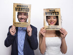 Husband Wanted ja Wife Wanted Photo Booth kehykset