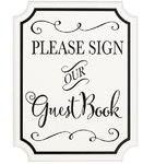 "Kyltti ""Please sign our guest book"""
